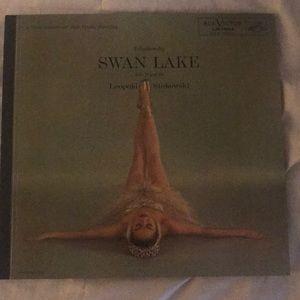 Vintage swan lake record